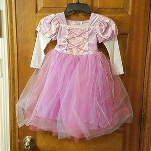 Ali Meng Baby 110 Pink Lavender Net Skirt Dress